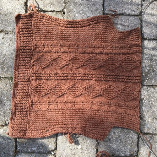 Tweedy Aran Cardigan WIP Wednesday 36/2016