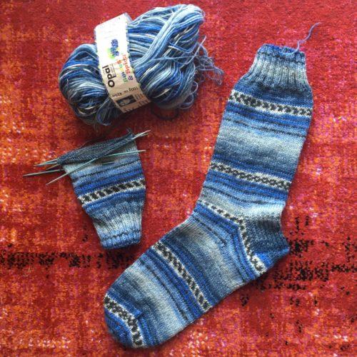 Blau-Weiß Socken