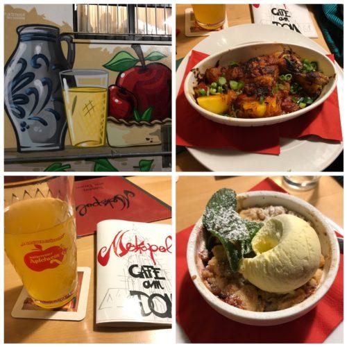 Essen und Trinken im Metropol-Café